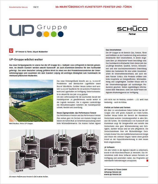 Pressebericht Bauelemente Bau 08-2021